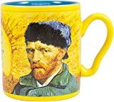 Van Gogh Disappearing Coffee Mug - Add Hot Water and Watch Van Gogh's Ear Disappear - Comes in a Fun Gift Box - by The Unemployed Philosophers Guild