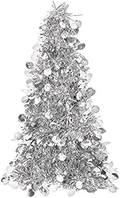 Large Silver Tinsel Christmas Tree Table Centerpiece Party Decoration Amazon Com Au Kitchen