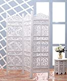 Artesia Handcrafted 3 Panel Premium Quality Wooden Room Divider/Partition