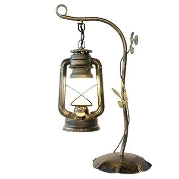 Amazon.com: Wsxxn - Lámpara de mesa de estilo vintage retro ...
