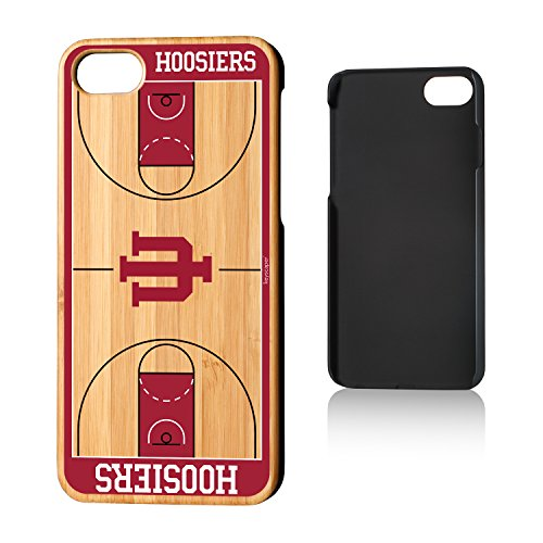 Keyscaper KBAMI7-00IU-COURT1 Indiana Hoosiers iPhone 8/7 Bamboo Case with Basketball Court Design