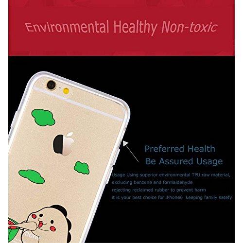 jlw Sac Case Étui Apple iPhone 6S/6Melon repas Multicolore decui Multicolore/TPU Coque en gel