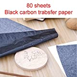 Zehhe 80 Sheets Black Carbon Transfer Tracing Paper