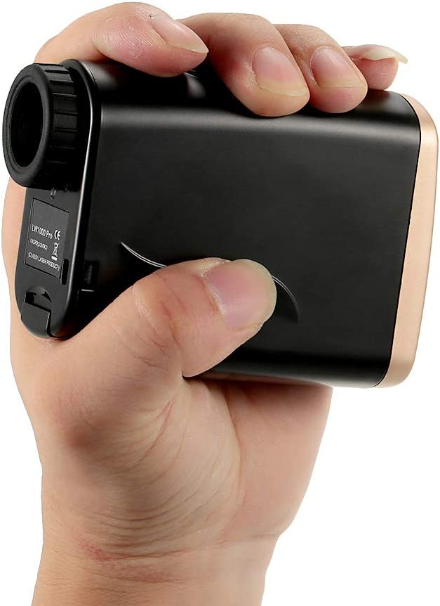 ZIHENGUO Telémetro láser Profesional para Golf, Medidor de Distancia portátil de Caza 6X25 Telescopio con Modo de Niebla, Medición de Velocidad/Distancia Horizontal, Bloqueo de Bandera