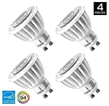 Hyperikon GU10 LED Track Light Bulb (50W equivalent), Dimmable MR16 420 lumen, 3000K (Soft White Glow), CRI 90+, 120 Volt, 40° Beam Angle, UL-listed and ENERGY STAR Qualified - (Pack of 4)