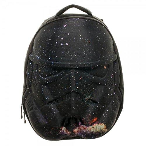 Star Wars Stormtrooper Galaxy Helmet 3D Molded Backpack, Black, One Size