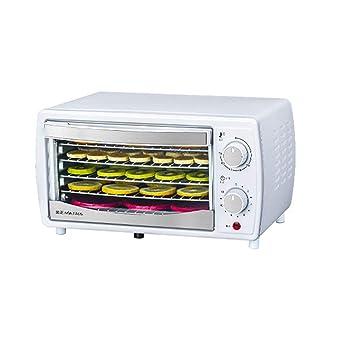 Qujifanghg Máquina Multifuncional de Frutos Secos, secador de Frutas y Verduras, Cinco Capas, Temperatura Ajustable 38 ° C-78 ° C, 0-12 Horas de Tiempo: ...