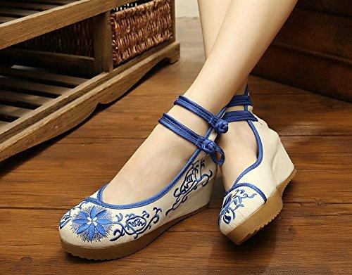 ezShe - Zapatos de tacón  mujer Azul - azul