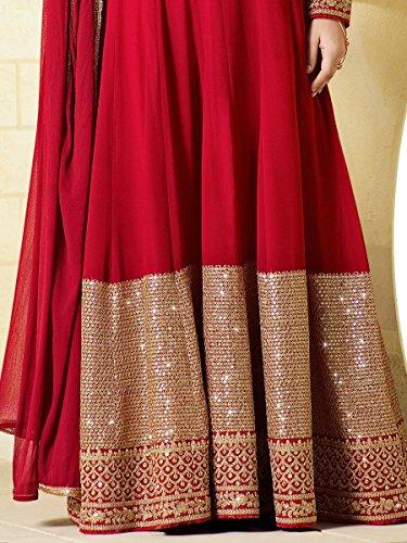 Jay Sarees Heavy Zari Sequince Work Floor Length Anarkali - Semi Stitched by JAY SAREES (Image #1)