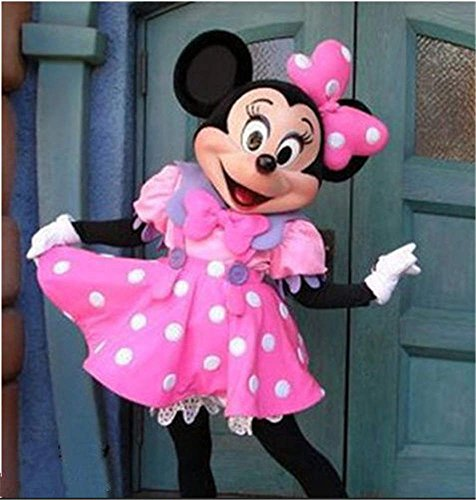 GUFAN Cute Lovely Pink Minnie Mouse Mascot Costume Fancy Dress Adult Size EPE FREE Ship (Pink, (Cute Minnie Mouse Costume)