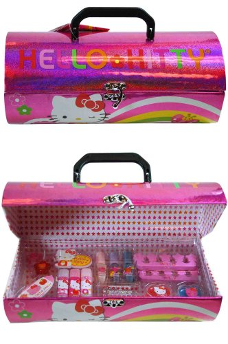 Hello Kitty Cosmetic Set - SANRIO Hello Kitty Roll Box Cosmetic Set
