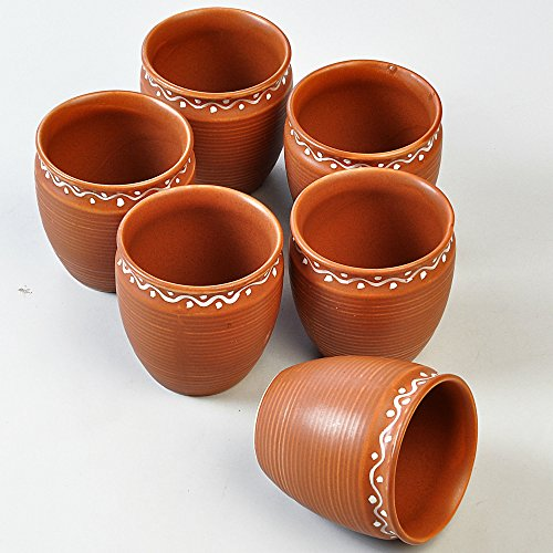 Handmade Terracotta Tea Cups – set of 6