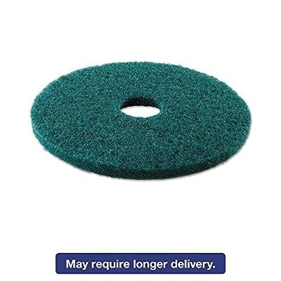 """Boardwalk PAD 4016 GRE BWK4016GRE Standard 16"""" Diameter Heavy-Duty Scrubbing Floor Pads, Green (Pack of 5)"""