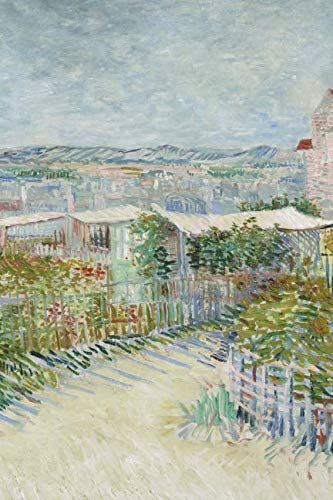 Montmartre: behind the Moulin de la Galette: Blank Journal; Vincent van Gogh notebook / composition book, 140 pages, 6 x 9 inch (15.24 x 22.86 cm) Laminated