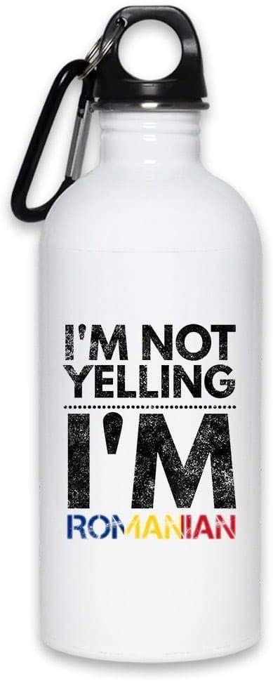I ' m Not Yelling私はルーマニア|面白い水ボトル20オンス