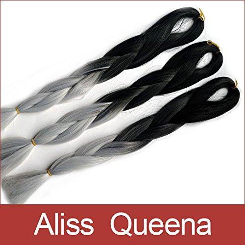 alisss queenatm5pcslot 24inch 100gramspack blackampgrey