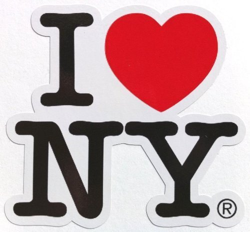 LandCAR Sticker I Love NY Border Type Waterproof Paper Seal (Japan -