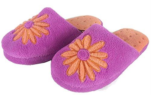 Toots Tootsies Femmes Fleur Pantoufles Pourpres Violet