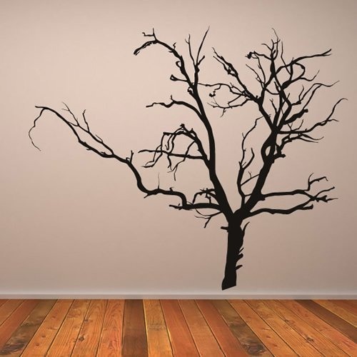 azutura Creepy Bare Tree Wall Sticker Halloween Wall Decal Spooky Kids Home Decor available in 5 Sizes and 25 Colours X-Large Nut Brown for $<!--$59.98-->