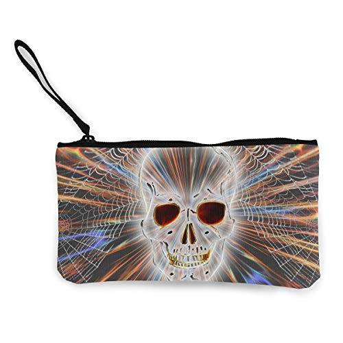 Oomato Canvas Coin Purse Skull Light Net Cosmetic Makeup Storage Wallet Clutch Purse Pencil Bag]()