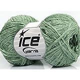 Lot of 8 Skeins Ice Yarns YARNS Thin Chenille Light Khaki