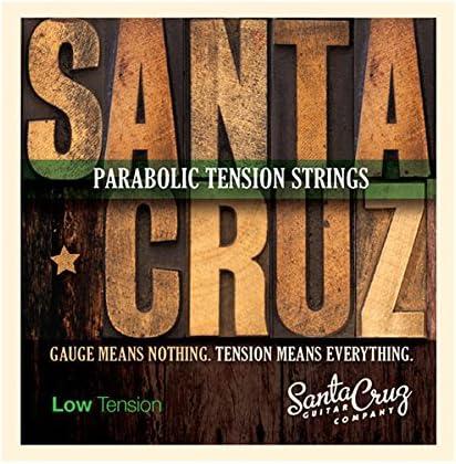 Santa Cruz parabólico tensión cuerdas de guitarra acústica bajo ...