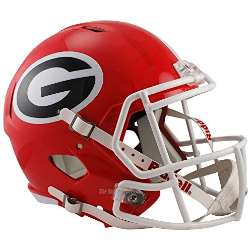 Riddell Georgia Bulldogs Officially Licensed NCAA Speed Full Size Replica Football Helmet Bulldogs Deluxe Replica Helmet