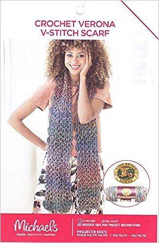 Michaels Crochet Pattern Crochet Verona V Stitch Scarf Measures