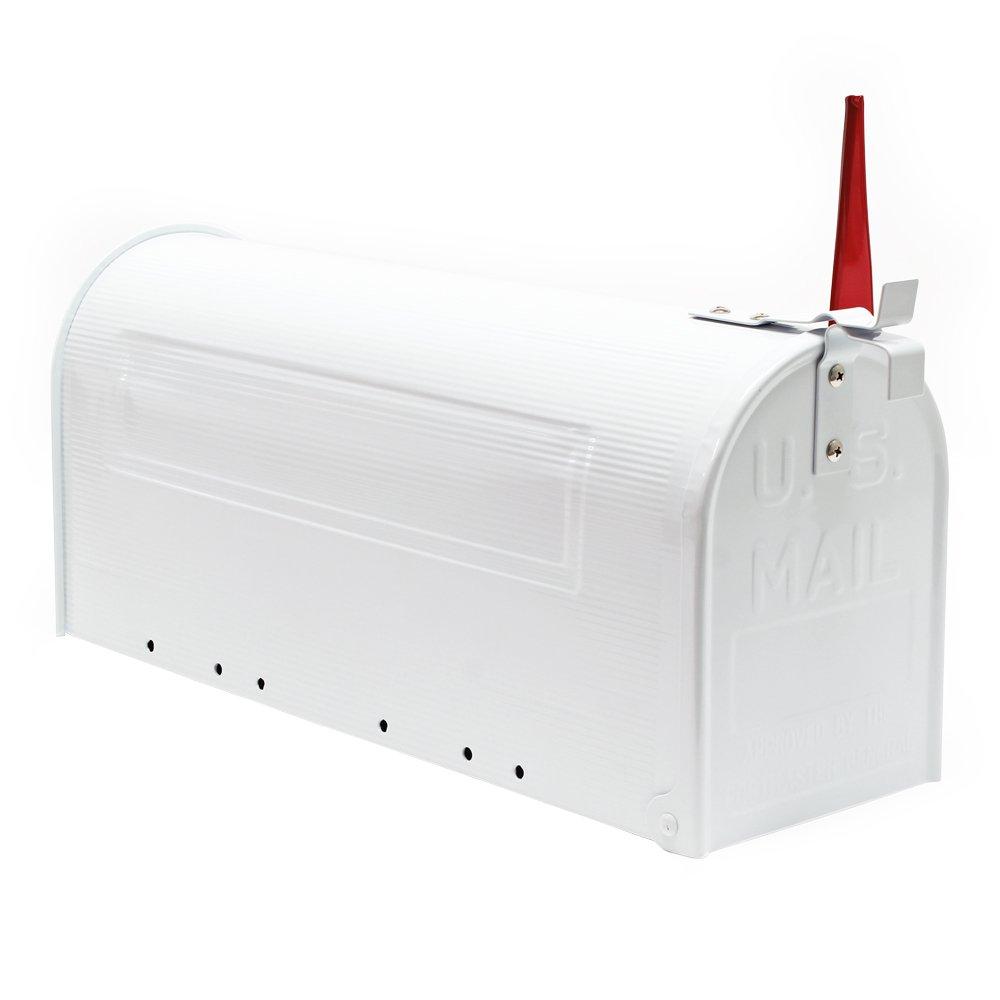 Buz/ón US Mail dise/ño Blanco americano decorativo Correo Postal Soporte de pared pie