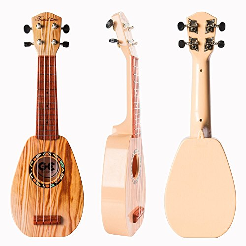 17 Inch Guitar Ukulele Toy For Kids ,Guitar Children Educational Learn Guitar Ukulele With the Picks and Strap Can Play Musical Instruments Toys (17 Inch) for $<!--$15.99-->