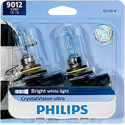 Philips 9012CVB2 CrystalVision Ultra Upgrade Headlight Bulb (9012 HIR2), 2 Pack: Automotive
