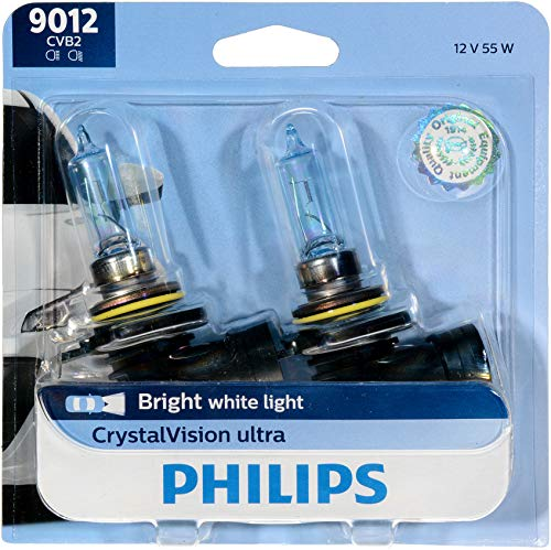 Philips 9012CVB2 CrystalVision ultra Upgrade Headlight Bulb (9012 HIR2) (Best Jeep Headlight Upgrade)