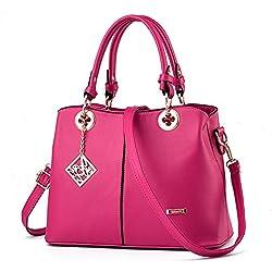 Fantastic Zone Women Pu Leather Handbags Top Handle Satchel Tote Bags Shoulder Bags