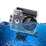 AKASO Action Camera 1080P HD WiFi 12MP Waterproof Sports Camcorder 170 Degree Wide Angle Lens Rechargeable Battery and 19 Mounting Kits