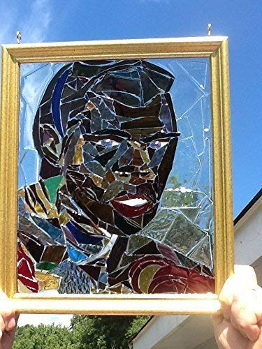 Boxing Legend Stained Glass Window Sun catcher]()