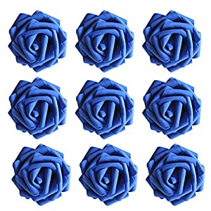 VORCOOL Foam Roses Flowers,50 Pcs Artificial Mini Foam Roses Flowers Head for DIY Party Festival Home Decor Garland Wreaths Flowers 78