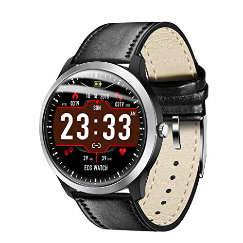 Bluetooth Smartwatch, BZLine N58 ECG PPG Smart Watch Met Elektrocardiograaf ECG Display, Holter ECG Hartslagmeter…