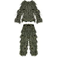 PELLOR Children 3D Camouflage Clothing Ghillie Suit for...