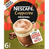 Nescafe Cappuccino 6 Sobres De 120 Gr, capuccino, 120 gramos