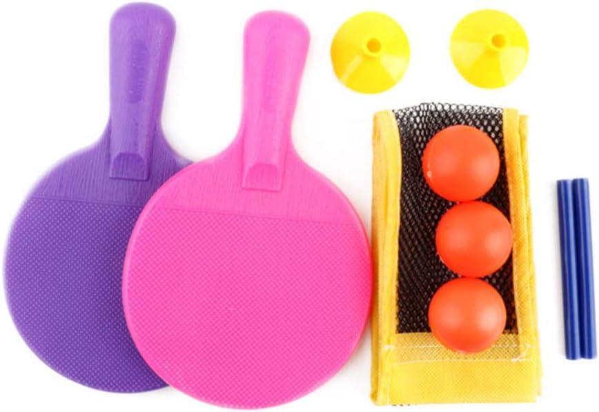Toyvian Mini Juego de Paleta de Ping Pong con Pelotas de Red Retráctiles Y Accesorios de Tenis de Mesa para Poste Hogar Juguete de Juego para Exteriores