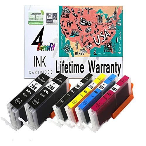 4Benefit PGI-280XXL / CLI-281XXL High Yield Pigment Black /