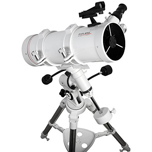 Explore Scientific FirstLight 114mm Newtonian Telescope with EQ3 Mount (White) - Mounted Telescope for Adults Stargazing - Observation Telescope and Astronomy Telescope
