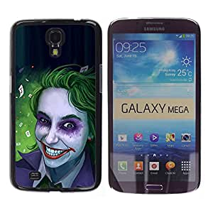 Paccase / SLIM PC / Aliminium Casa Carcasa Funda Case Cover para - Zombie Art Blue Eyes Creepy Smile Green - Samsung Galaxy Mega 6.3 I9200 SGH-i527