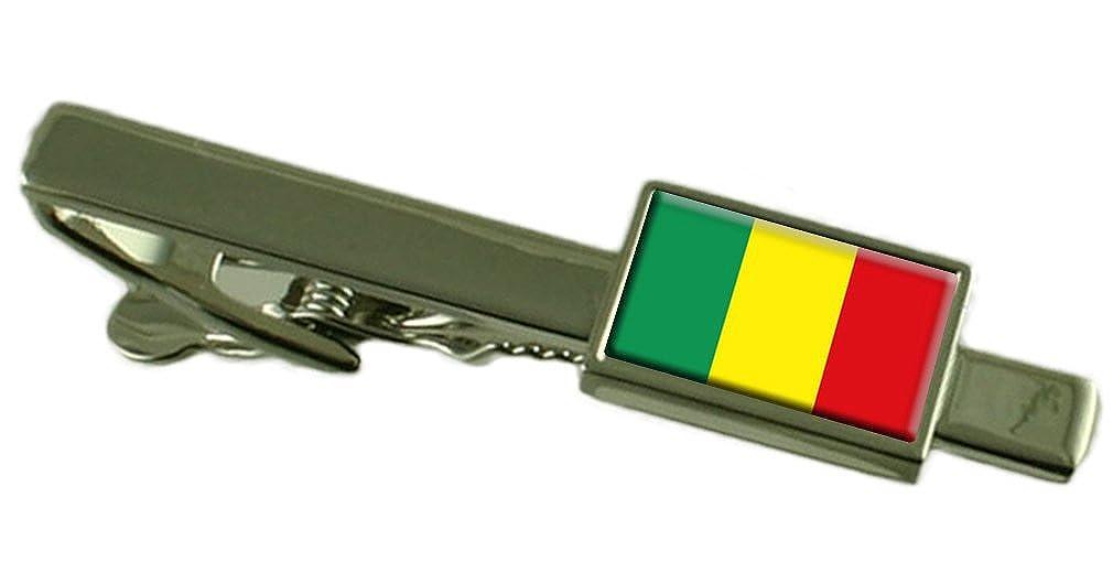 Mali Flag Tie Clip Bar 55mm Keepsake Engraved Personalized Case