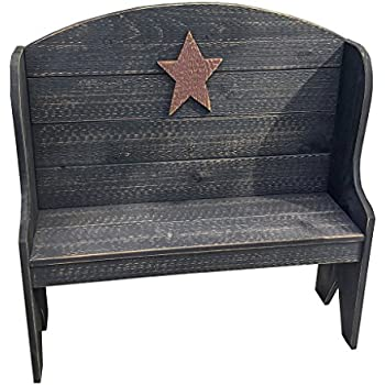 Amazon Com Primitive Rustic Country Style Deacon S Bench