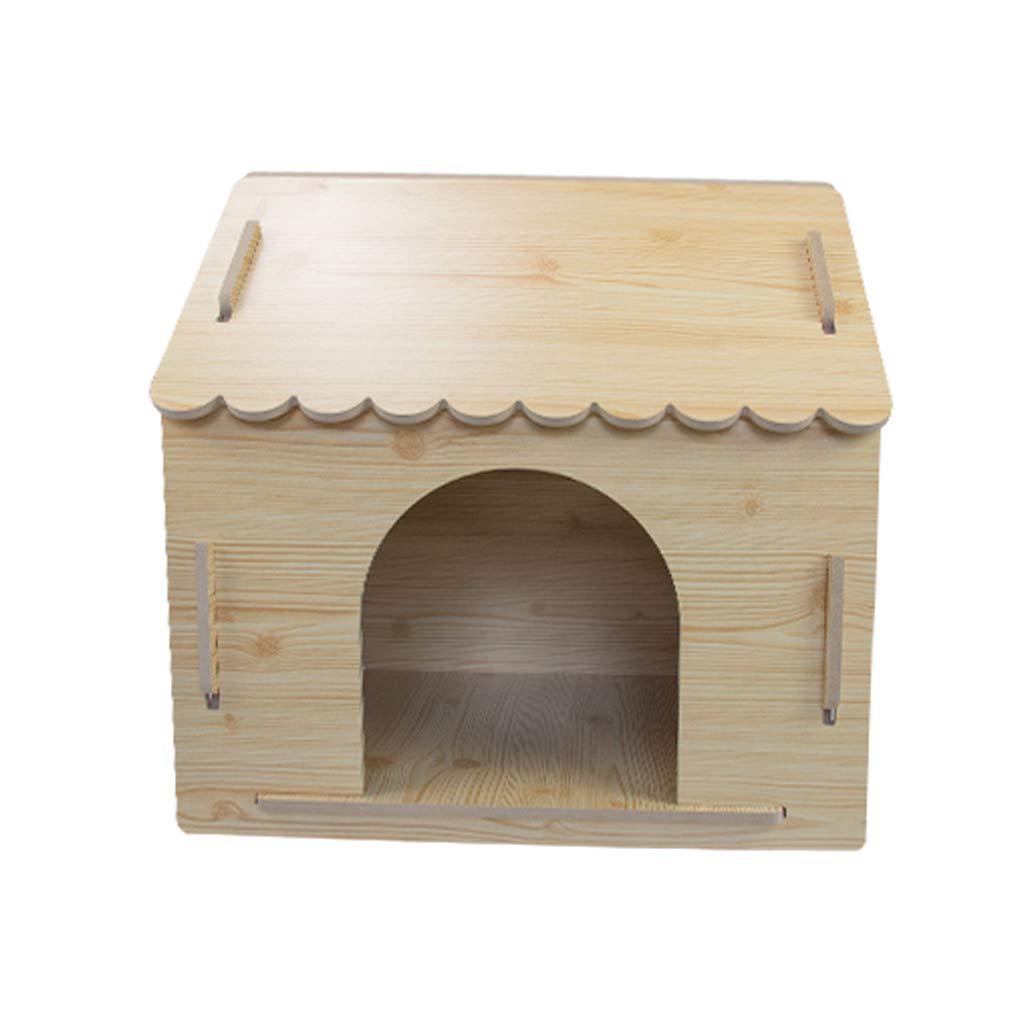 Caseta para Mascotas en el Nido de Madera en la Perrera Grande Teddy Wo Dog House Cuatro Estaciones Universal - Trompeta - Encaje de Madera: Amazon.es: ...
