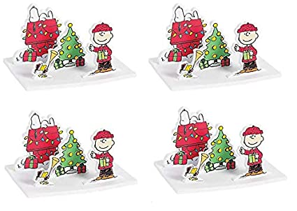 Snoopy And Woodstock Christmas.Amazon Com Peanuts Worldwide 3d Christmas Scene Craft Kit