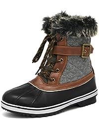 Women's Mid Calf Winter Snow Boots