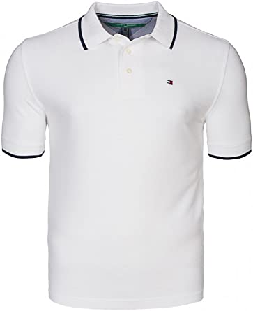 Tommy Hilfiger – polo piqué hombre, color blanco, 100% algodón Weiß M: Amazon.es: Ropa y accesorios