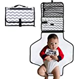 Portable, Baby Diaper Changing Pad - Newborn and Infant Change Mat by Giggle&Poo - Compact, Travel Pads and Mats for Babies - Foldable, Durable and Lightweight with Mesh Pocket For Diapers and Wipes